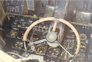 Cockpit of the Douglas A20G Havoc Attack Bomber WWII