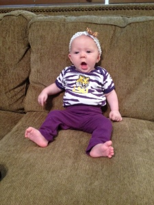 Then there is something called football and they dreww me in ths LSU outfit and tell me to yell Geaux Tigers! Heck, I don't even know what a Geaux is!